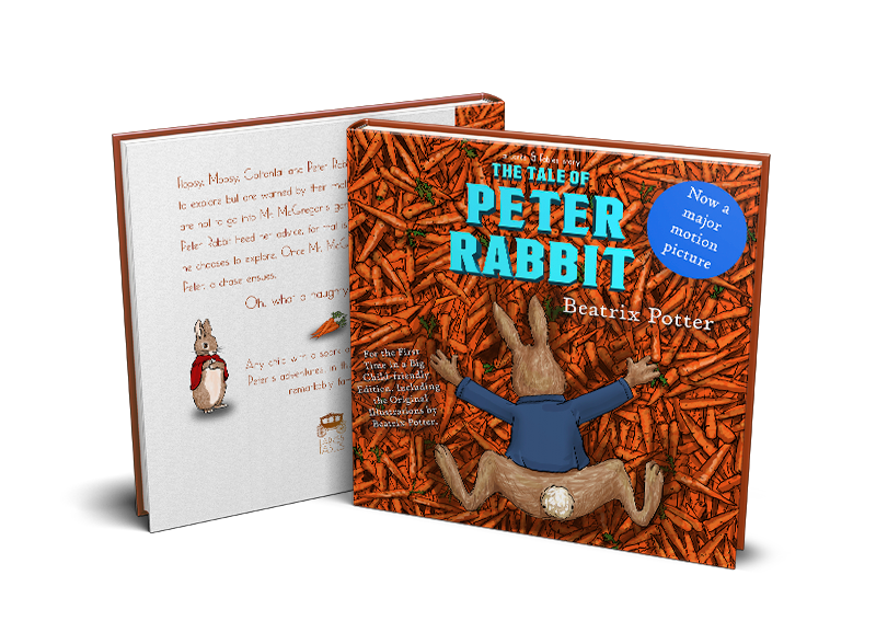peter rabbit mock up