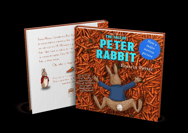 peter rabbit mock up